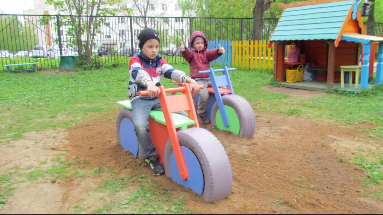 Детская машина на площадку своими руками 684