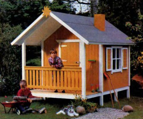 Детские деревянные домики для дачи своими руками чертежи